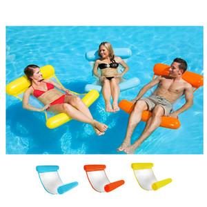 Nouveau été flottant eau Hamac flotteur gonflable flottant Chaise longue Lit Plage Piscine Salon Float Chaise Lit pour enfant Adultes