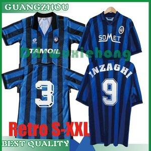 1991 1992 1996 1997 Retro Atalanta Bergame Accueil Bleu Football Maillots L.MURIEL Ilicic GOMEZ FEULE DUVAN DE vendangeoir Football Shirt S-XXL
