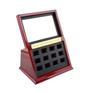 9 Holes 12 hole position Jewelry package customized display case Championship ring wooden box diaplay case collections fashion gift
