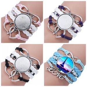 Leather Wrap braccialetti tessuti fai da te sublimazione Blanks Bracciale disegno su misura personalizzati per adulti di nuovi prodotti e regali dei bambini 4 4syaH1