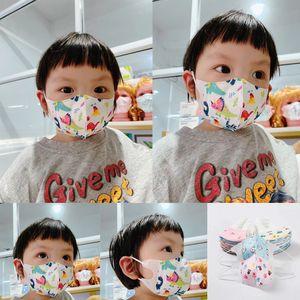 çocuk eritilerek şişirilmiş kapak araba ile tek kullanımlık yüz maskesi 3D Araba üç boyutlu çocuk maskeleri nefes çok katmanlı koruyucu bebek maskeleri maske