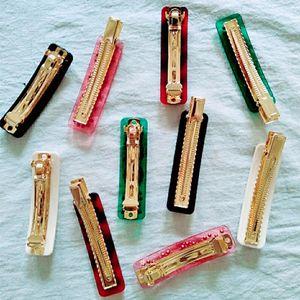 Grampo de cabelo Letter Multicolor Rhinestone com selo Cabelo Carta Mulheres Clipe Barrettes Moda Acessórios de cabelo multicolor