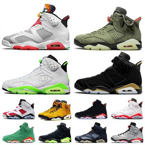 Jumpman Top Quality Travis Scott 6 6s Hare Mens Basketball Retro Shoes Air Infrared Oregon Ducks Men Trainers Sneakers size 13