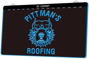 LD3567 Pitbull Roofing armes à feu Pittman New LED Gravure 3D Lumière signe Personnaliser à la demande de plusieurs couleurs