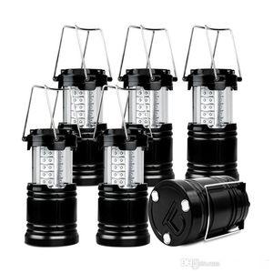 Açık Fenerler Aydınlatma 30 LED Kamp Fener En Parlak Çadır Işık Dış Aydınlatma Taşınabilir Asılı Lamba Yürüyüş Balıkçılık Taşınabilir 10 adet