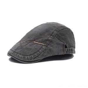 2019 Golf Egzersiz Düz Bereliler Denim Hat Pamuk Casual Visor Cap Erkekler Vintage Açık Şapka Caps Şapka, Atkı Eldiven Güneş Nefes Kemik Br