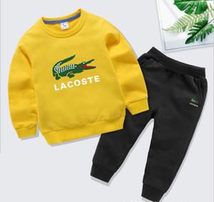 Sommermode Babykleidung Baumwolle Hülse lange feste Reißverschlussjacke + pants 2pcs Anzug-Baby-Kleidungssatz