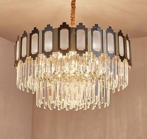 Moderne LED-Kristall-Kronleuchter Wohnzimmer-Dekoration hängende Lampen-Luxus-Beleuchtung Designer-Farbglanz Lighting LLFA