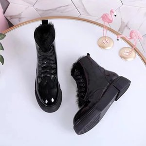 Fashion motorcycle ankle leather mixed color lace short boots cool rivet women's shoes with high help Martin
