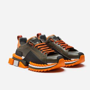 D Super King zapatillas de deporte de lujo de Sorrento Zapatos Casual Plataforma de mujeres de los hombres ata para arriba el entrenador Napa cuero de los deportes de goma de zapatos inferior