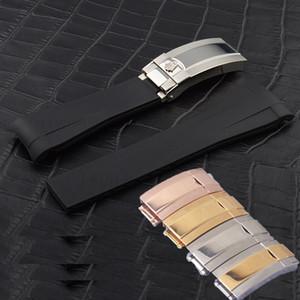 Роскошные часы Группы высокого нержавеющей Stee Fit для Sub Watch. Кнопочный Hidden Hook кожа развертывания застежка браслета Застежка