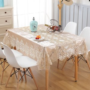 Table-Cloth Luxury High-class Velvet Embroidered Table Cloth Waterproof Oilproof Tablecloth Round Square Table Runner Dust Cover T200707