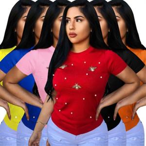 T-shirt Moda femminile T-Shirt Nuovo tipo T-Shirt Stampa Donna Casual Femminile T-Shirt Sexy Top Tees 2019 Abbigliamento Donna klw1218