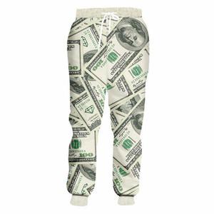 Streetwear Pantaloni Uomo Donna Pantaloni divertente 3D dollaro dei soldi Stampa Jogger pantaloni unisex rock punk Hip Hop Oversize Sweatpants
