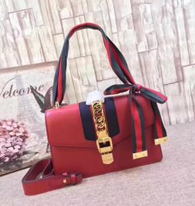 Золотая цепь дизайнер роскошных женщин плечо ремень сумки Высокое качество Флип крышка диагональные ленты кошельки шелк сумки 25x17x8cm