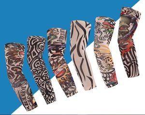 Hotsale Moda Unissex Tattoo mangas braço Warmer Proteção UV Outdoor Temporary Tattoo Falso Braço luva Warmer Sleeve