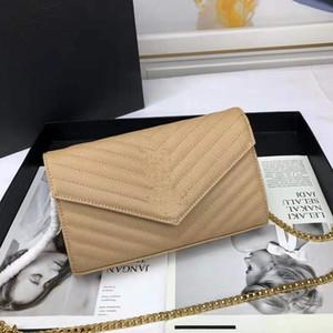 Mejores bolsos de diseño de venta de cuero de vaca cadena de metal caviar flap bolsos de diseño de plata oro del cuero diagonal bandolera cruz
