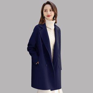 Winter neue Casual Wollmäntel Herbst Vintage Fashion Zweireiher Outwear Elegante Langarm Cashmere Coats Womens