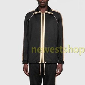 20SS neuen Italien Buchstabedruckes Jacket Pants Set Männer Frauen Zipper Outwear zwischen Jacke und Hose Anzug Fitness Sport Wear Anzug