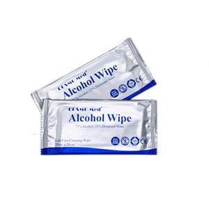 Hot 75% de alcohol toallitas desinfectantes DIPE y toallitas de empaquetado independiente Wet Wipes 20 * 20cm