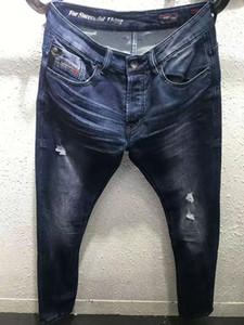 Yeni 2019 Stil Dizel Ünlü rahat tasarımcılar tasarım ince moda kot yırtık motosiklet yaz pantolon kalem kot pantolon 16070