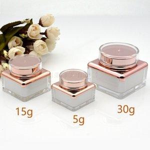 5g 15g 30g vazio Creme Jar plástico acrílico recarregáveis garrafa de maquiagem 100pcs Pot Viagem Rosto Loção Cosmetic Container / lot