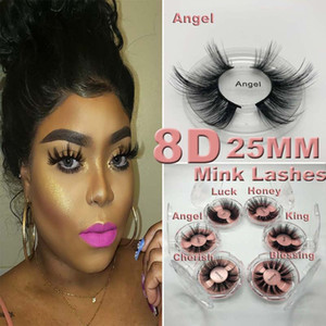 NEUE 5D Nerz Wimpern 25mm 3D Nerz Wimpern Falsche Wimpern Big Dramatic Volumn Nerz Wimpern Makeup Wimpern