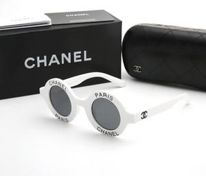 Original Box Mode französisch Marke 01945 Sonnenbrillen für Frauen Dame Runde Sonnegläser klassische Brilleneinkaufsspiegelgläser fahren