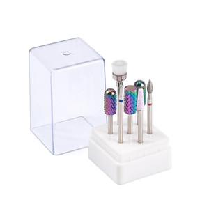 De haute qualité Drill Nail Set Bits de couleur Bleu carbure de tungstène acrylique Drill lime à ongles Bit Manucure