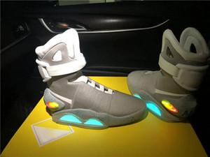 Роскошный дизайн бренда транслирует Mag назад в будущее бег баскетбол обувь светодиодное освещение светящиеся спортивные кроссовки открытый обувь с коробкой