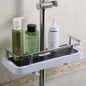 큰 거래 직사각형 욕실 선반은 단일 계층 샤워 헤드 홀더 스토리지 랙 홀더 샴푸 트레이 욕실 선반 샤워