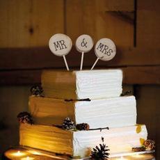 السيد والسيدة وود كيك توبر كعكة عيد ميلاد ممتاز ، حفل زفاف ، كعكة الزفاف الديكور