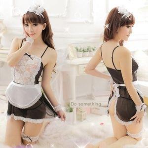 tentazione uniforme cameriera poco vestito cameriera sexy biancheria intima paio prospettiva sexy cute pura 20096 Underwear grembiule