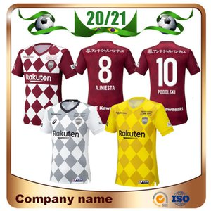 20/21 J.League Vissel Accueil Red Soccer Jersey 2020 # 8 A.INIESTA loin de soccer Shirts # 10 PODOLSKI DAVID VILLA 3 Football Uniforme