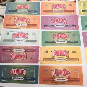 New Arrival MOONROCK PACKWOODS DANKWOODS PRE-ROLL Gummie bags Cherry AK-47 purple punch Label Stickers Joint Tubes Packaging