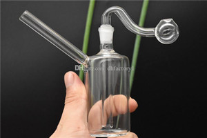 Cheap Mini Simple glass bongs bong Oil Burner tube dab heady Water Bong think glass pipes free shipping