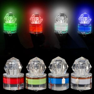 4 Color LED Deep Drop Underwater Diamond Fishing Flashing Light Night Fishing Bait Lure Submersible Lamp Squid Strobe GH251