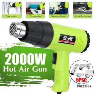 2000W 220V EU Industrial Electric Hot Air Guns Thermoregulator Heat Guns LCD Display Shrink Wrapping Thermal power tool