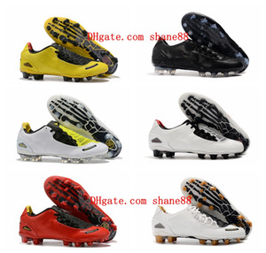 2020 top quality mens soccer shoes Total 90s Laser I SE FG soccer cleats leather football boots scarpe da calcio yellow