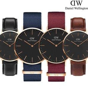 relojes de los hombres famosos simples de cuarzo de los hombres de línea ultra-delgada de lujo deportes militares casuales para hombre nueva manera mira el reloj reloj de las mujeres Wellington