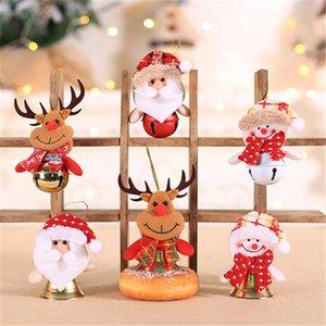 Arbre de Noël Pendentif décoratif Tissu Art Doll Bell Hotel Fenêtre Ménage Pendentif Décoratif de ménage Décorations pour la fête FJ421
