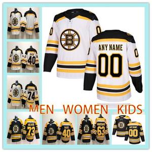 Maillot de hockey personnalisé BOSTON BRUINS HOMMES FEMMES ENFANTS tout nom numéroté 40 Tuukka Rask 63 Brad Marchand 73 chandail de hockey Charlie Mcavoy