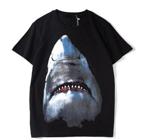 Luxury Mens Designer T Shirt Designer Casual Short Sleeves Fashion Shark Printing High Quality Men Women Hip Hop Tees