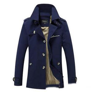 Gros- manteau de veste de veste pour hommes printemps et automne hommes casual veste longue lavé vêtements de plein air l'hiver de coton manteaux en duvet parka