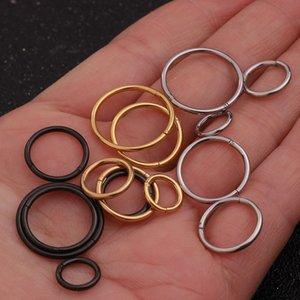 16mm Paslanmaz Çelik Menteşe Segmenti Clicker Halka Hoop Burun Septum Piercing Helix Kıkırdak Daith Küpeli için 1PC 6mm