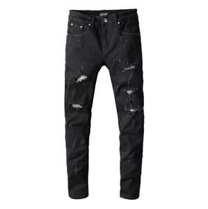 2020 designer jeans men's summer fashion stretch slim straight jeans denim trend men's casual pants wholesale-3
