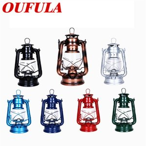 Lampada a sospensione OUFULA cherosene Lanterne portatili Retro Style Mediterraneo lampada decorativa Camping