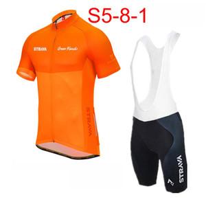Manica corta Strava Uomini Cycling Jersey Set 2019 pro bici della squadra Estate traspirante MTB di ciclismo su strada Abbigliamento Ropa Ciclismo hombre K053038