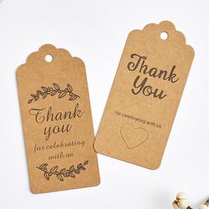500PCS البني 9.5 4.5CM * شكرا لك كرافت حزمة هدية ورقة شنق العلامة مع الحب حفرة هدية الزفاف شعار حزب شنق علامات الملابس والعلامات السراويل