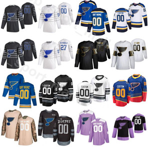 2020 All Star St. Louis Blues jerseys de hockey sobre hielo 57 David Perron 90 Ryan OReilly O Reilly 10 Brayden Schenn 27 Alex Pietrangelo